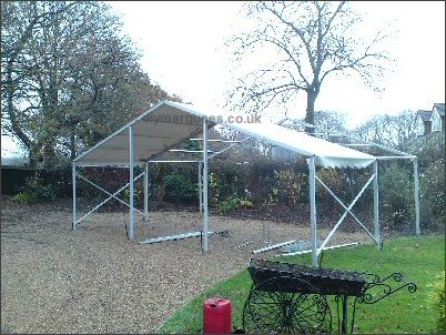 9m x 6m framework mid-assembly