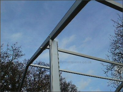 Gable uprights bolt securely on