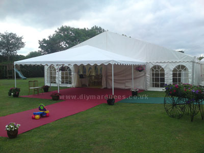 Rusells wedding marquee from the front
