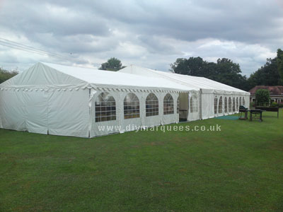 Rusells wedding marquee from the side