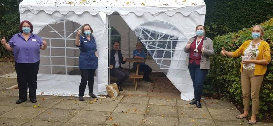 dorking hospital marquee