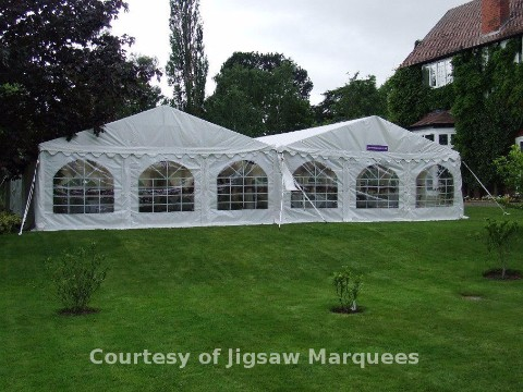 Two 6x12m DIY Marquees next to one another