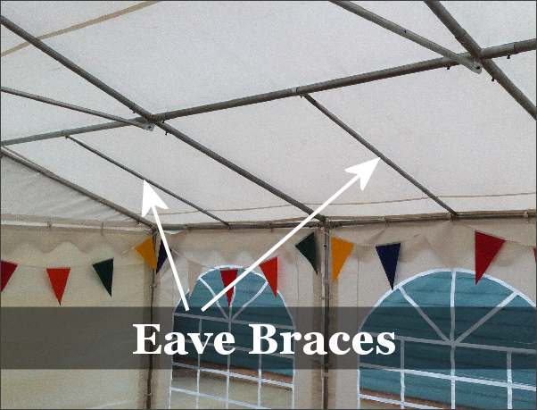 6x12m Classic Diy Marquee 500gsm Pvc Roof And 500gsm Pvc