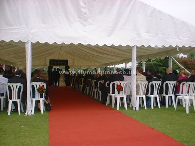 Theatre style marquee seating