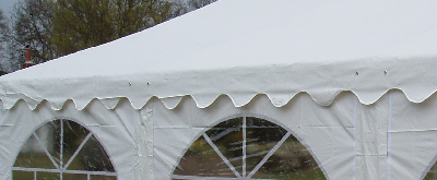 wave drape marquee roof