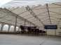 Two marquees set up as a beer hall (empty)
