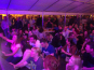 Two marquees set up as a beer hall (full)