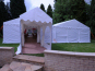 A walkway used as an entrance in to several DIY Marquees