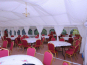 Two lined 6x12m DIY Marquees side by side