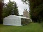 A DIY Marquee used at a garden party