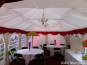 A 4m wide DIY Marquee with burgundy swags