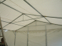 Gable uprights and additional braces in one of our deluxe marquees
