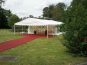 A DIY Marquee with a porch (created using a gable piece)