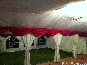 Two Lined DIY Marquees with burgundy swags