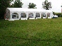 6m x 12m DIY marquee with catering tent at one end