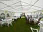 The interior of a 6m x 12m DIY marquee