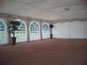 6m x 12m DIY Marquee with roof lining, ivory swags, curtains and coconut matting
