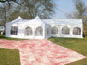 3.6m x 7.2m Double Pagoda used as an entrance marquee