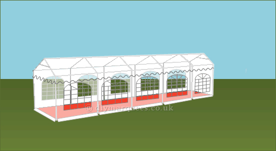 3x10m 240gsm Party Tent Roof
