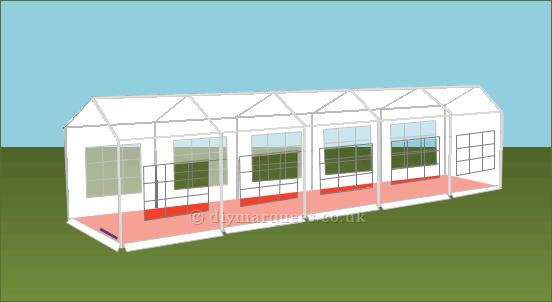 3x10m diy party tent