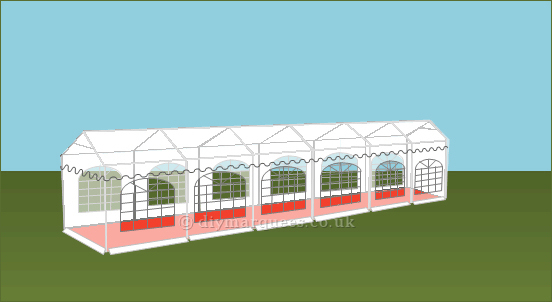 3x12m 500gsm Commercial Marquee Roof
