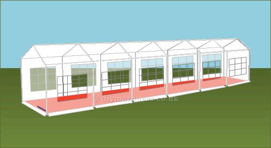 3x12m diy party tent
