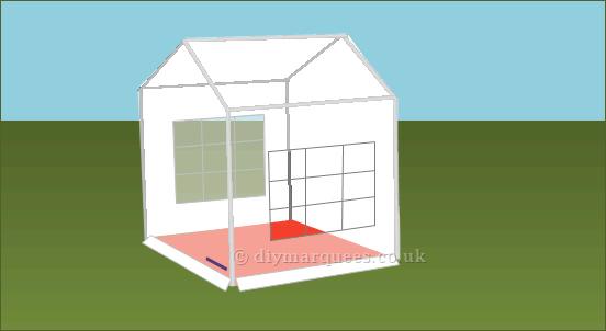 3x2m diy party tent