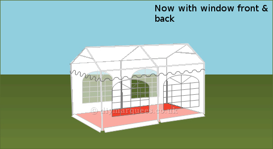 3x4m commercial diy marquee