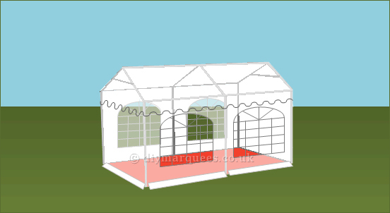 3x4m 500gsm Classic Marquee Roof