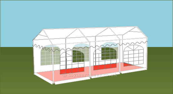 3x6m 500gsm Classic Marquee Roof