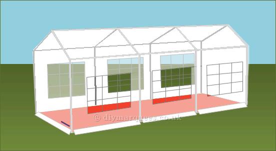3x6m diy party tent