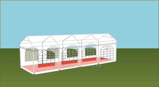 3x8m 500gsm Classic Marquee Roof