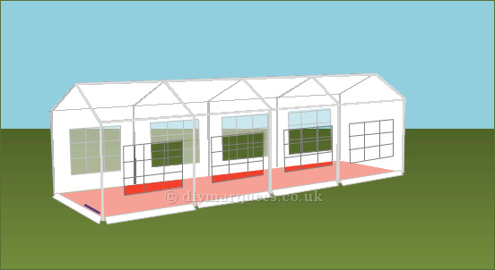 3x8m diy party tent