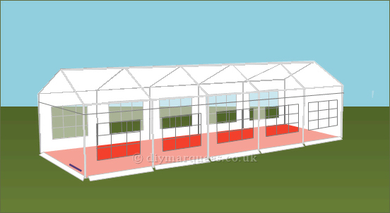 4x10m 240gsm Party Tent Roof