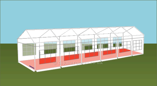 4x12m 240gsm Party Tent Roof
