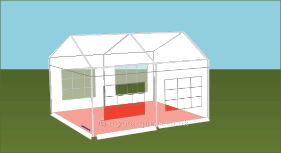 4x4m 500gsm Classic Marquee Roof