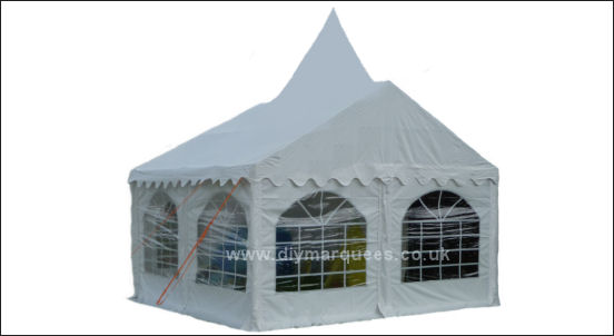 4x4m peaked commercial diy marquee