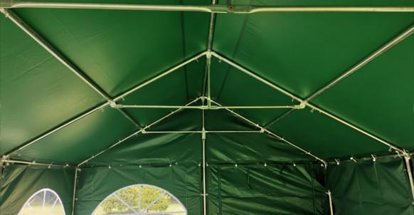 4m x 6m Green PVC Marquee interior