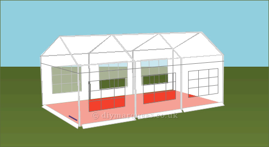 4x6m 240gsm Party Tent Roof