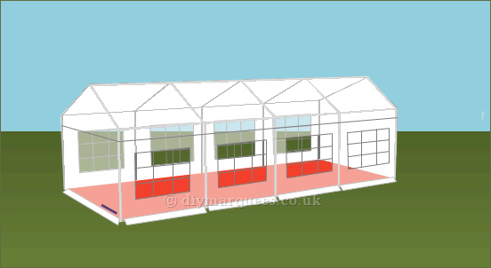 4x8m 240gsm Party Tent Roof