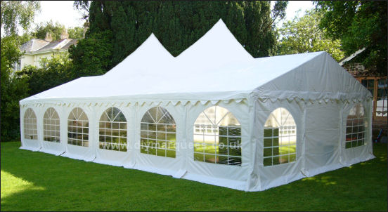 6x12m pagoda peaked roof marquee