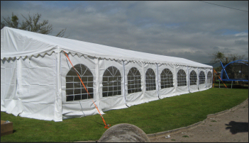 6x18m 500gsm Classic Marquee Roof