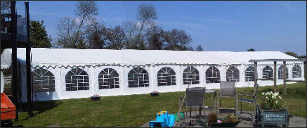 6x24m 500gsm Classic Marquee Roof