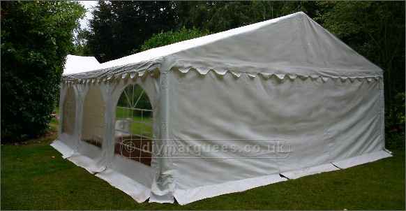 6x6m Classic Diy Marquee 500gsm Pvc Roof And 500gsm Pvc
