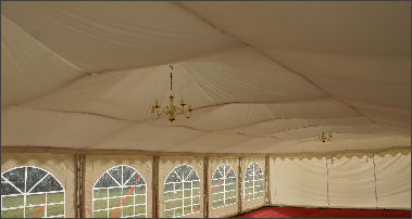 ivory flat marquee linings