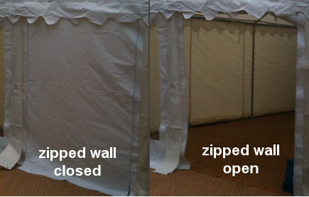 2m 500gsm commercial zipped wall